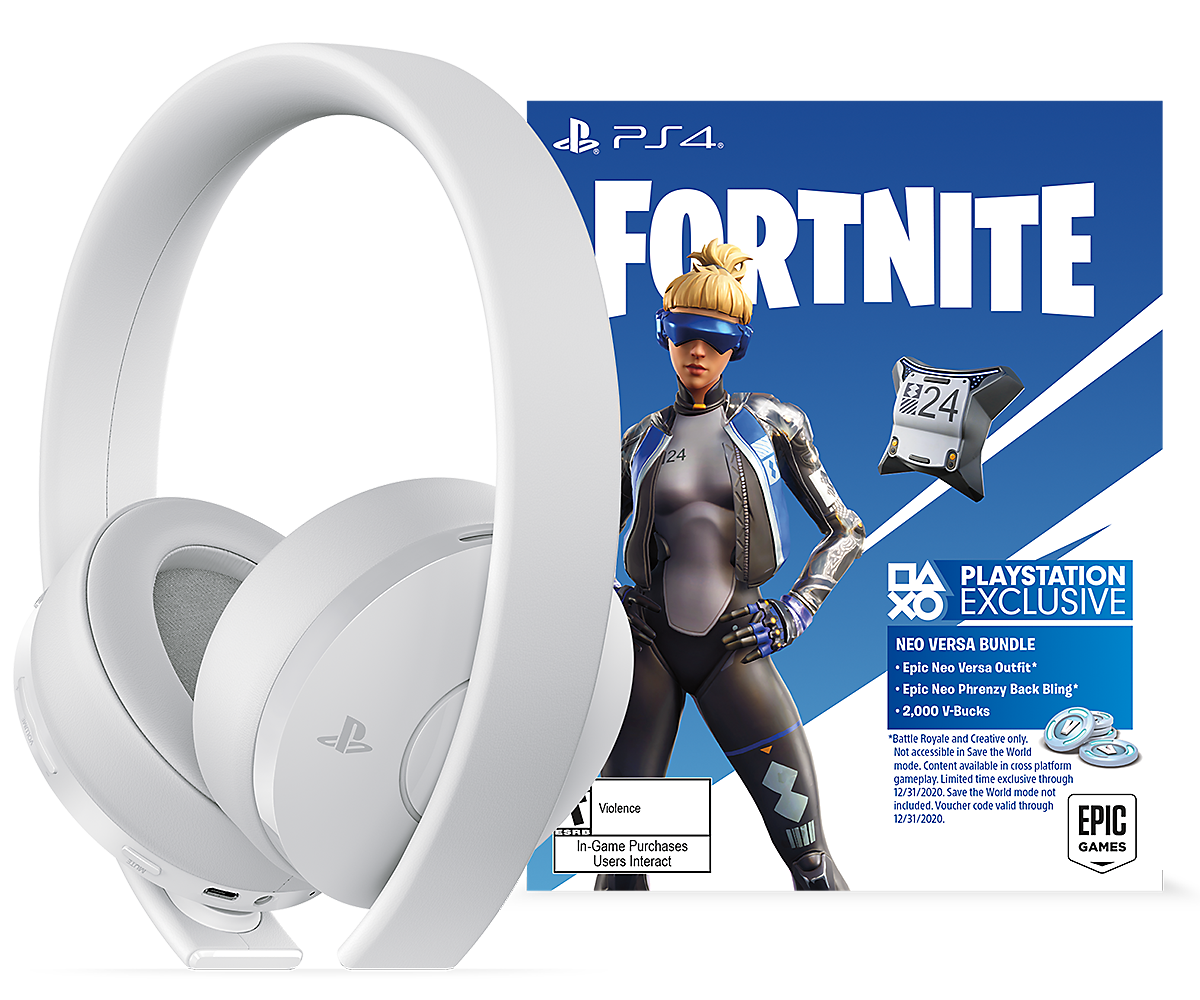 White Fortnite Neo Versa Gold Wireless Headset image