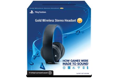 playstation acirc reg gold wireless stereo headset choose a colour