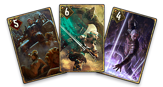 Trio of cards in GWENT
