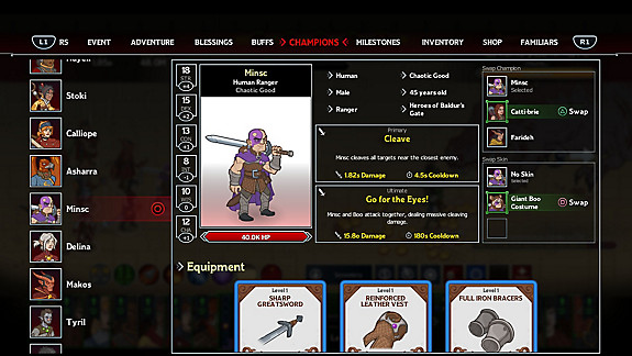 Idle Champions of the Forgotten Realms - Screenshot INDEX