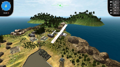Island Flight Simulator Trailer Screenshot