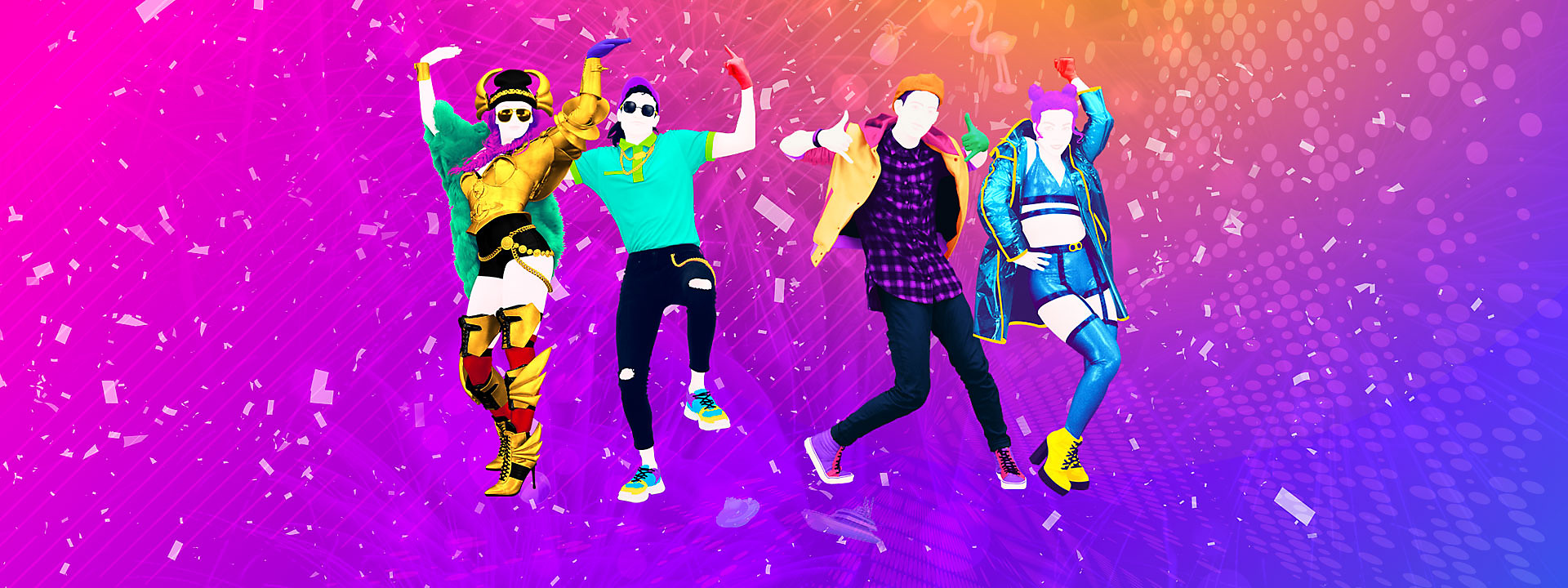 Banner con héroe de Just Dance 2020