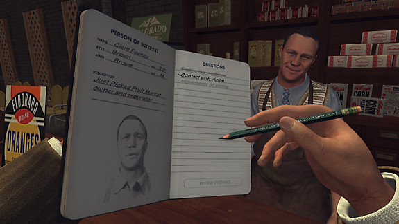 L.A. Noire: The VR Case Files - Screenshot INDEX