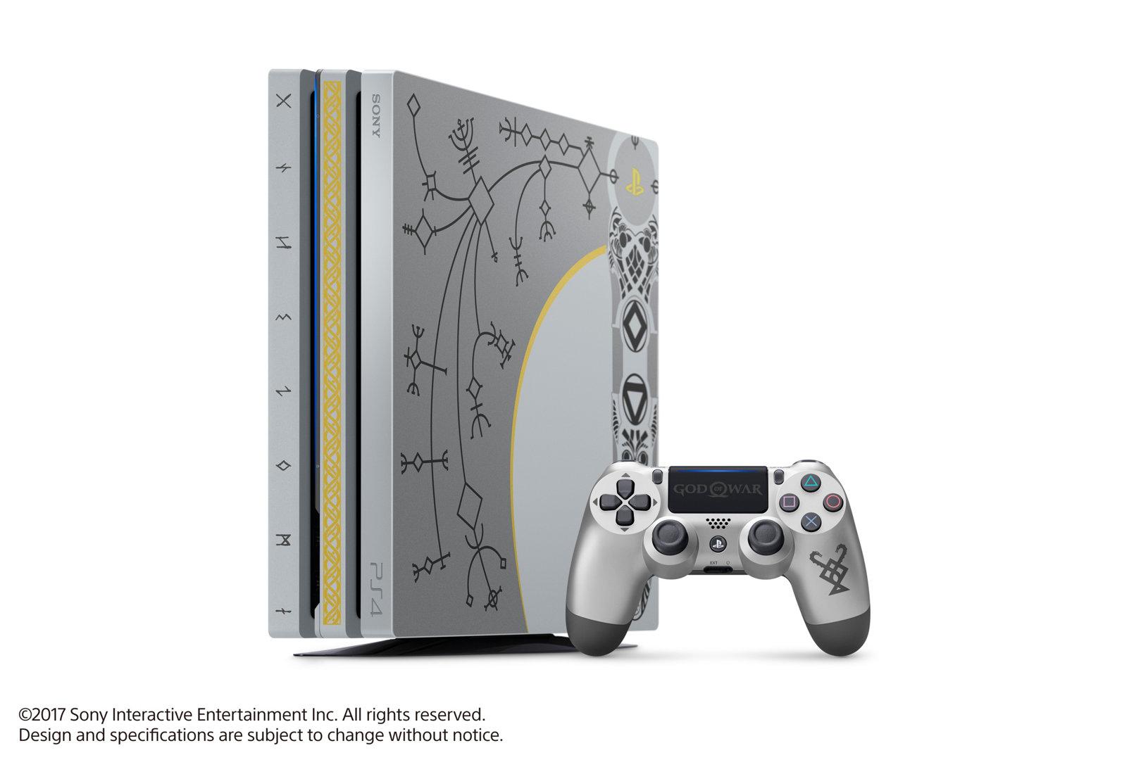 Limited Edition God Of War Ps4 Pro Bundle Playstation 4 Black 1tb 123