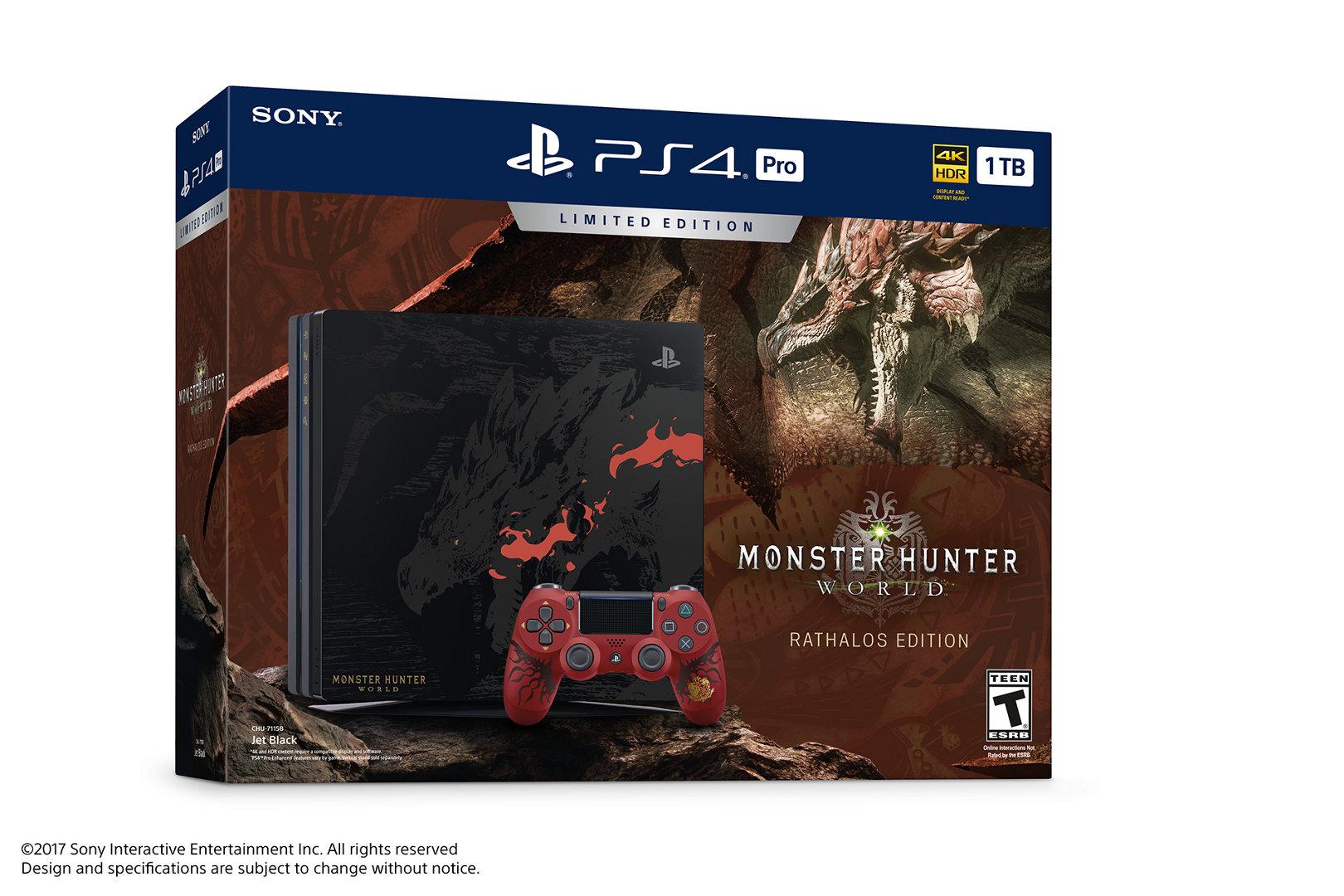 Limited Edition Monster Hunter: World PS4 Pro Bundle