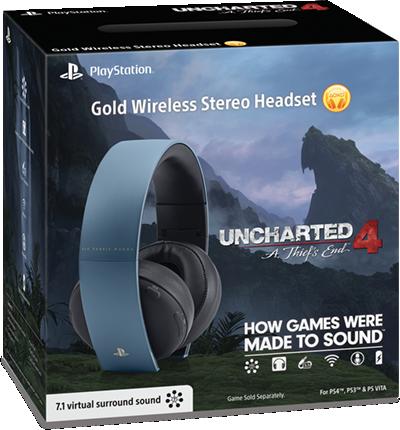 Casque Découte Stéréo Sans Fil Playstation Gold
