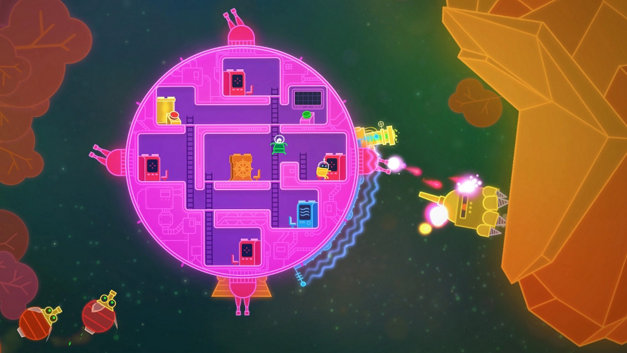 Lovers in a Dangerous Spacetime Screenshot 1