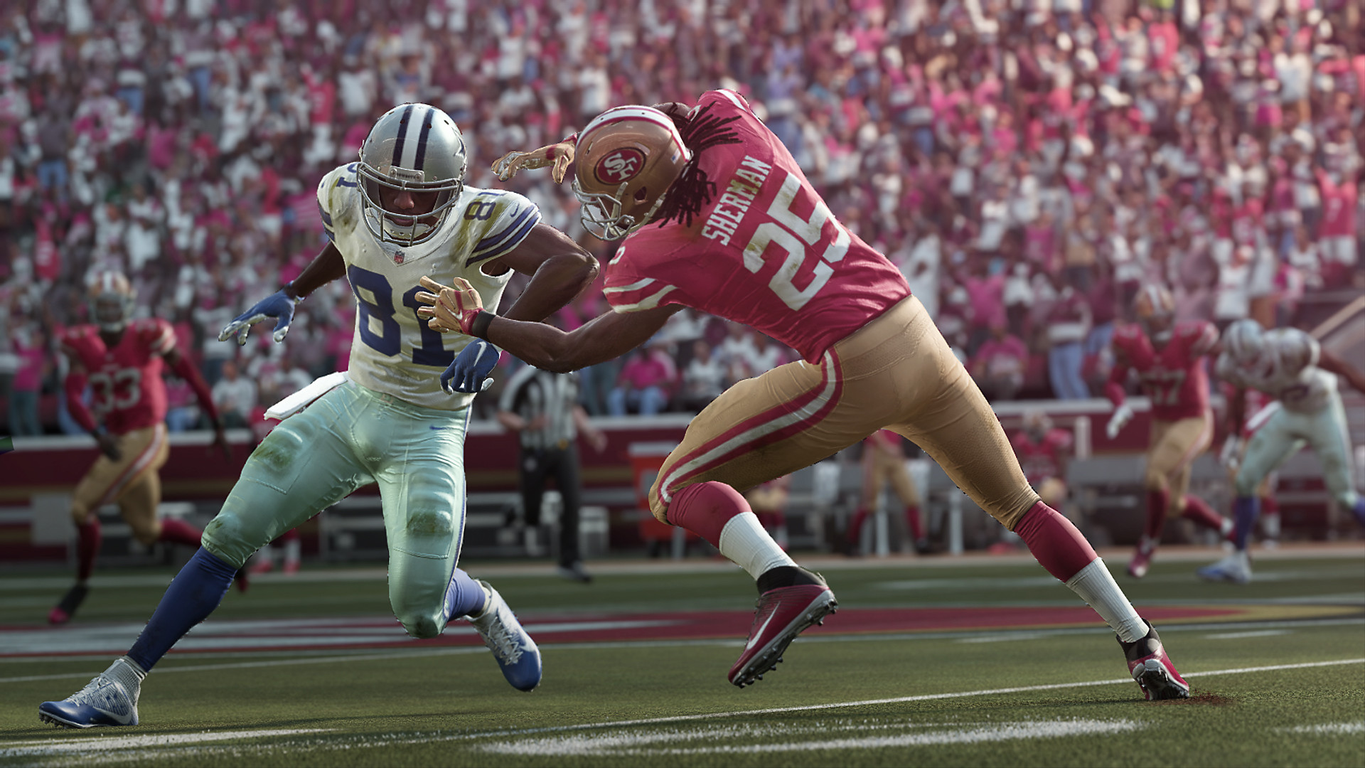 Madden NFL 19 Gameplay Screenshot - Preparing to tackle