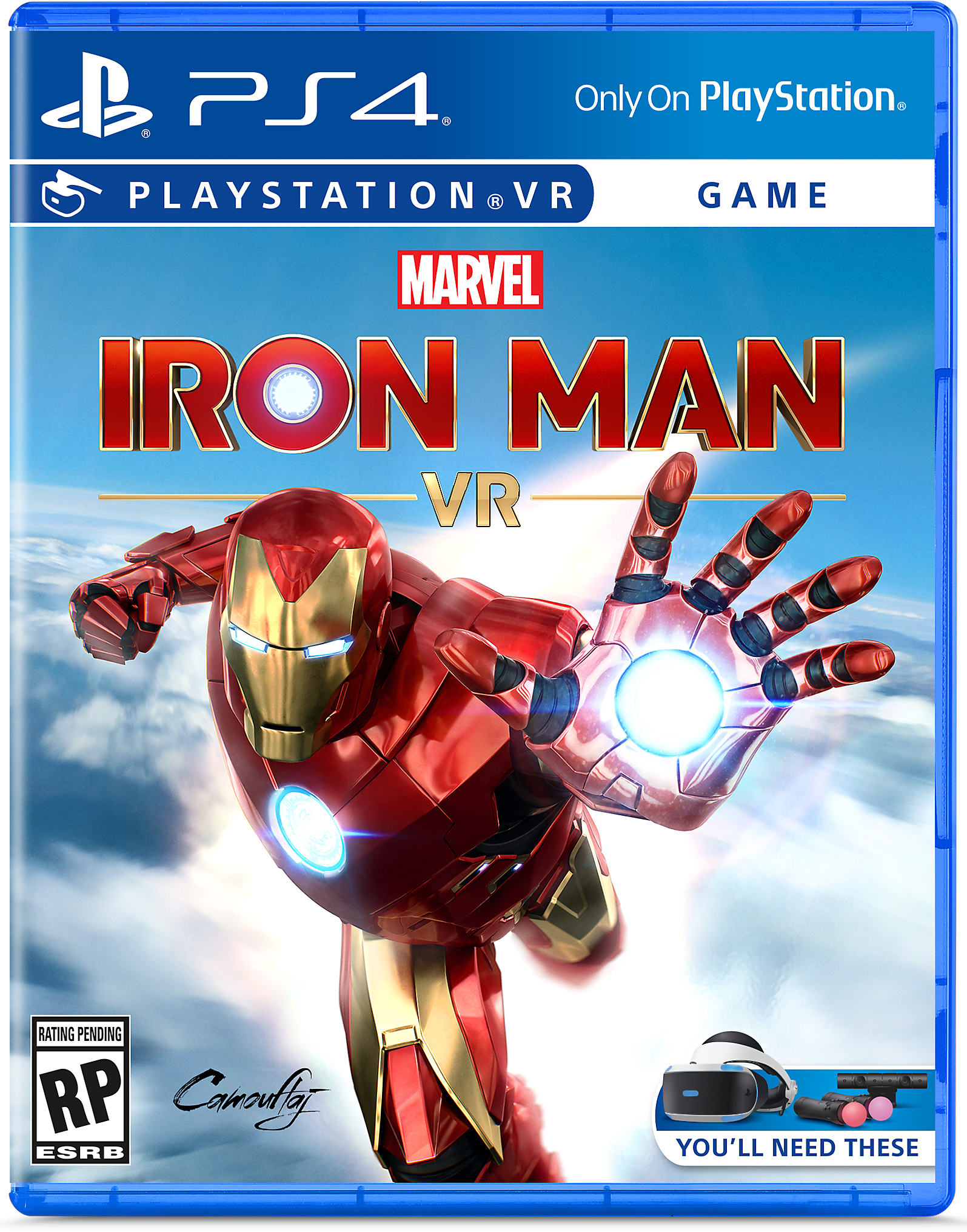 Iron Man VR - PS4 Box Art