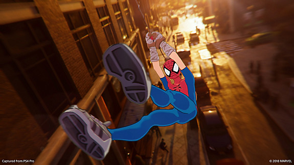 Spider-Man in cartoon suit
