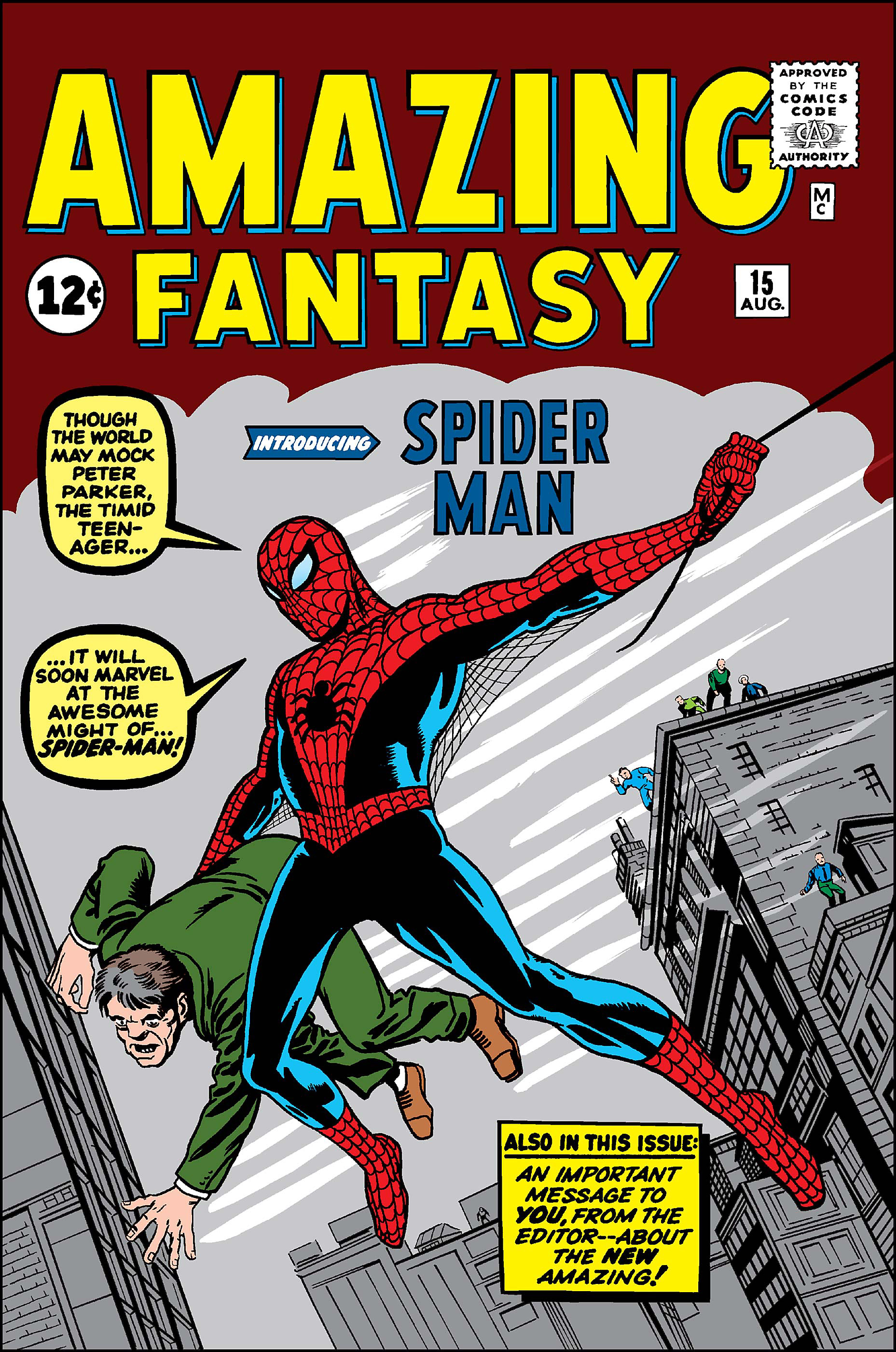Spider-Man Comic - Amazing Fantasy #15 Cover
