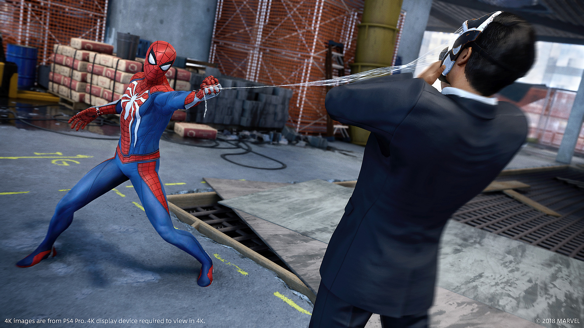 Marvel's Spider-Man Screenshot - Web-slinging action shot