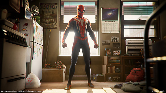 Marvel's Spider-Man - Preparing for action background art and video