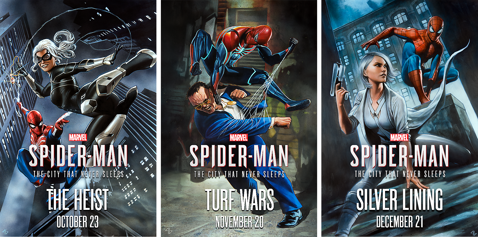 Marvel's Spider Man: The City That Never Sleeps DLC Chapters Art