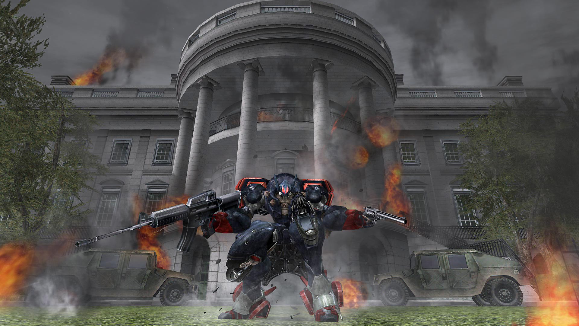 mech in front of the white house