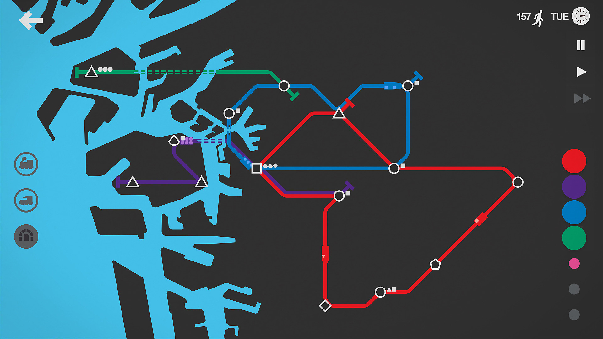Mini Metro en acción