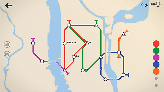 Mini Metro - Screenshot INDEX