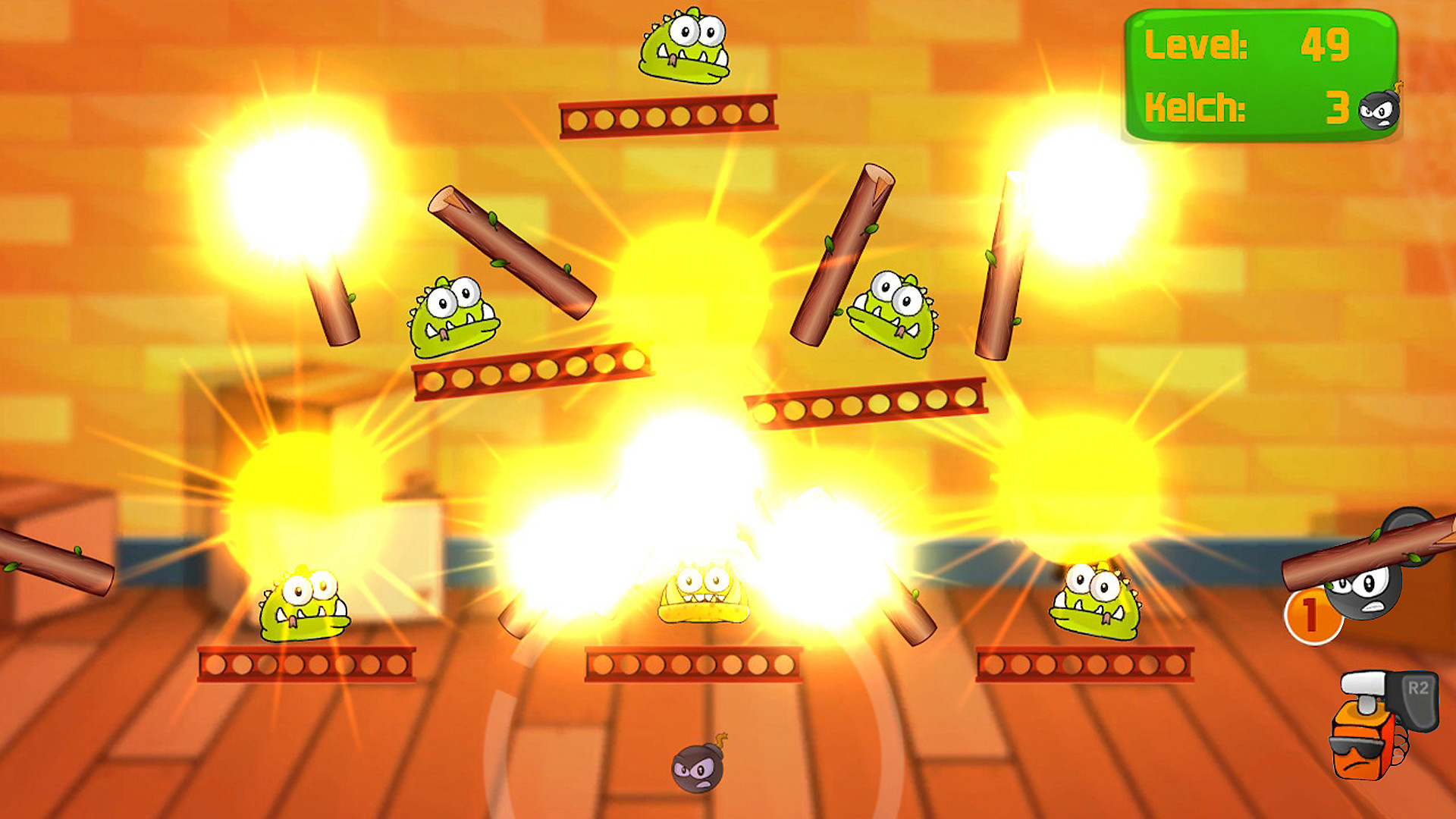 Gameplay de Monster Dynamite