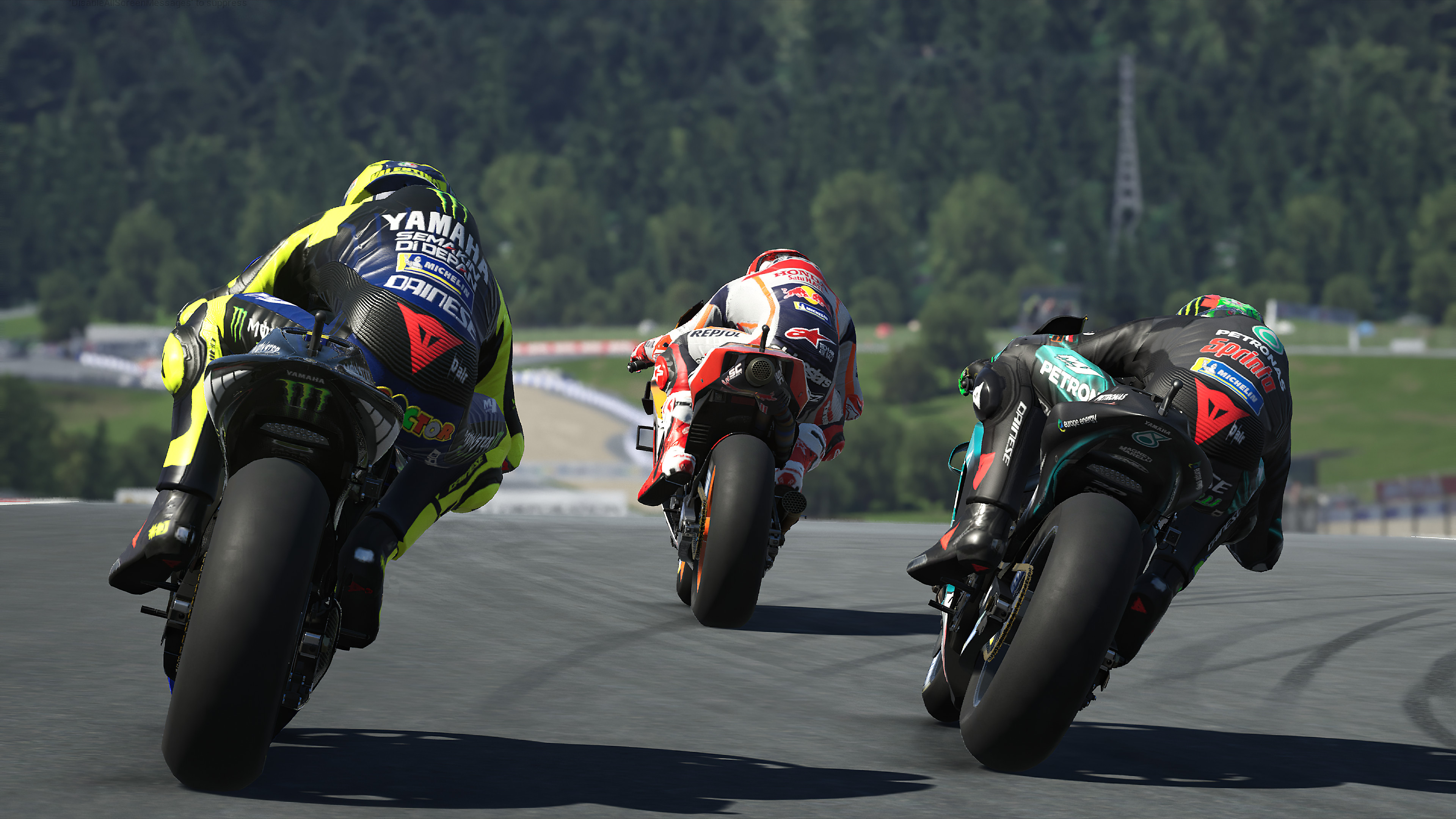 MotoGP™20 - Three racers, seen from behind