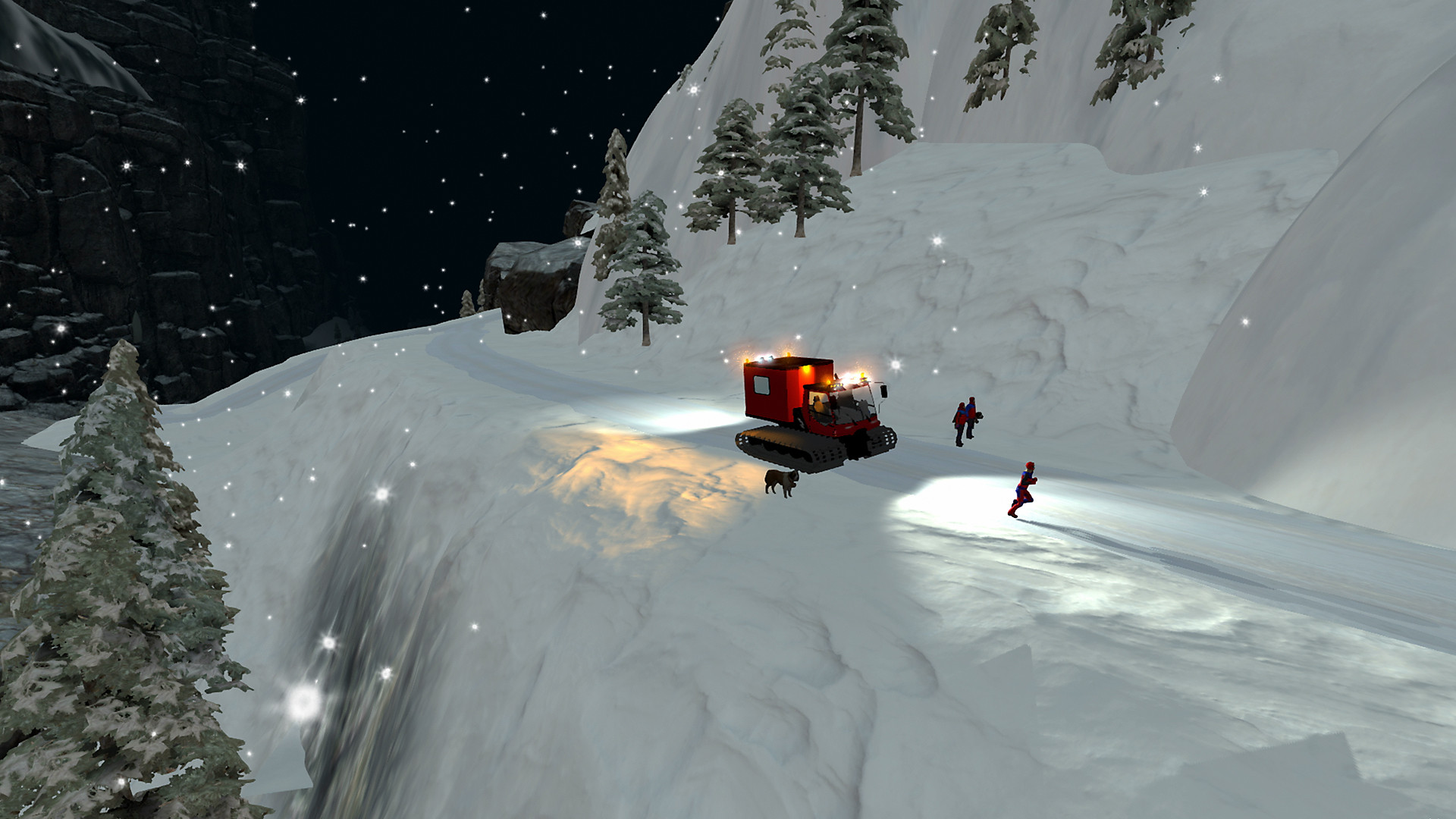 Mountain Rescue Simulator en action