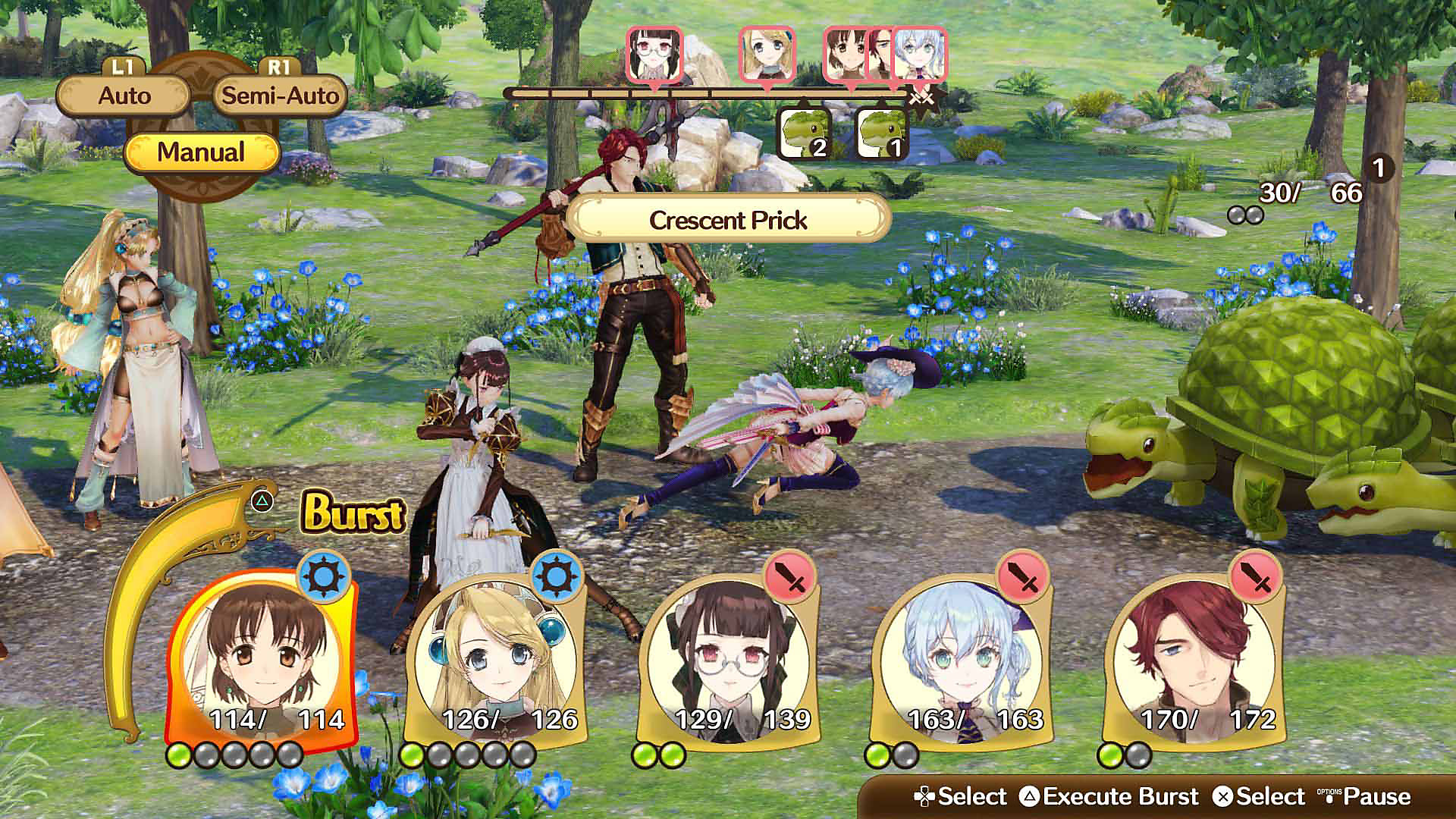 Nelke & the Legendary Alchemists ~Ateliers of the New World~ Battle Screen