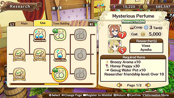 Nelke & the Legendary Alchemists ~Ateliers of the New World~ - Screenshot INDEX