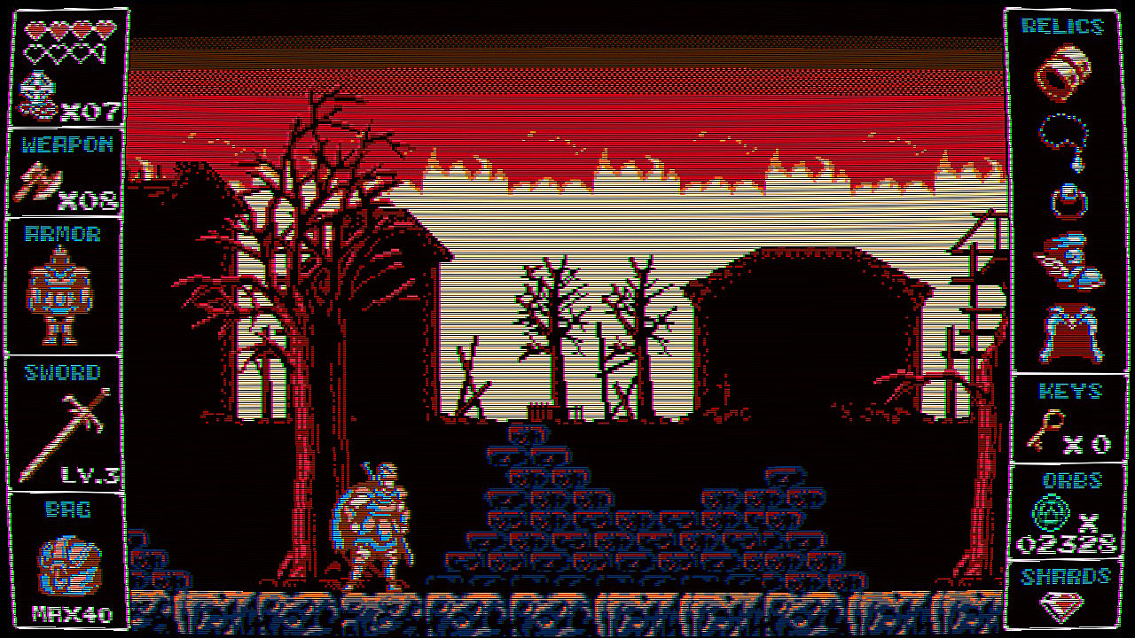 Écran de jeu d'Odallus: The Dark Call