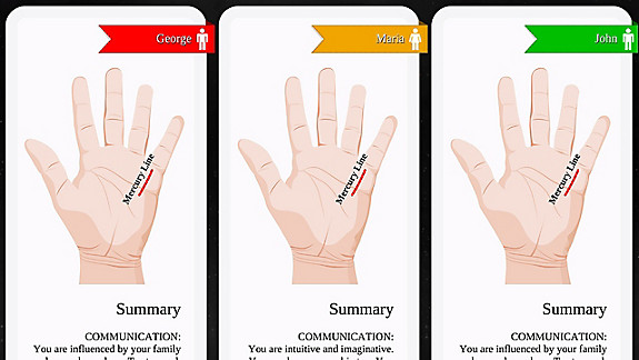 Palm Reading Premium - Screenshot INDEX