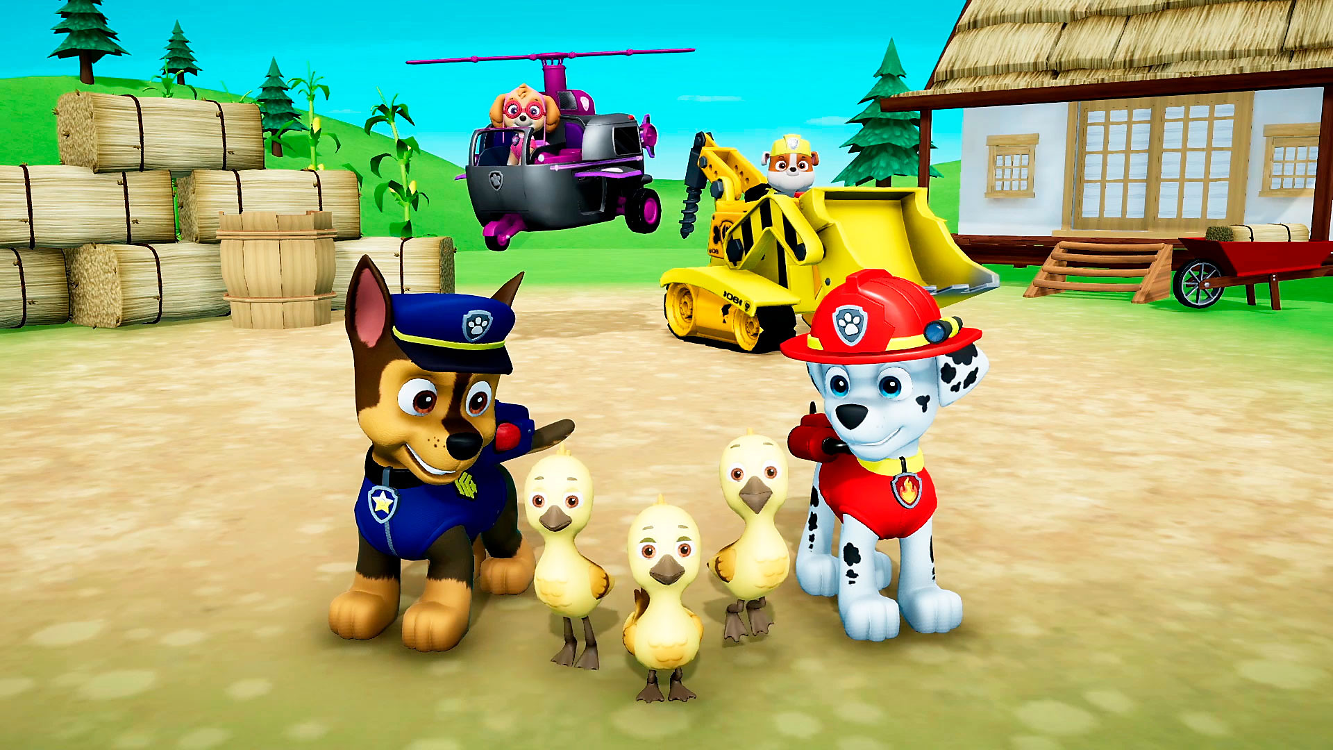 Paw Patrol with ducklings