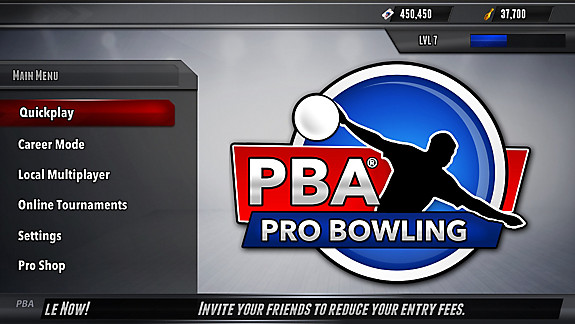 PBA Pro Bowling - Screenshot INDEX