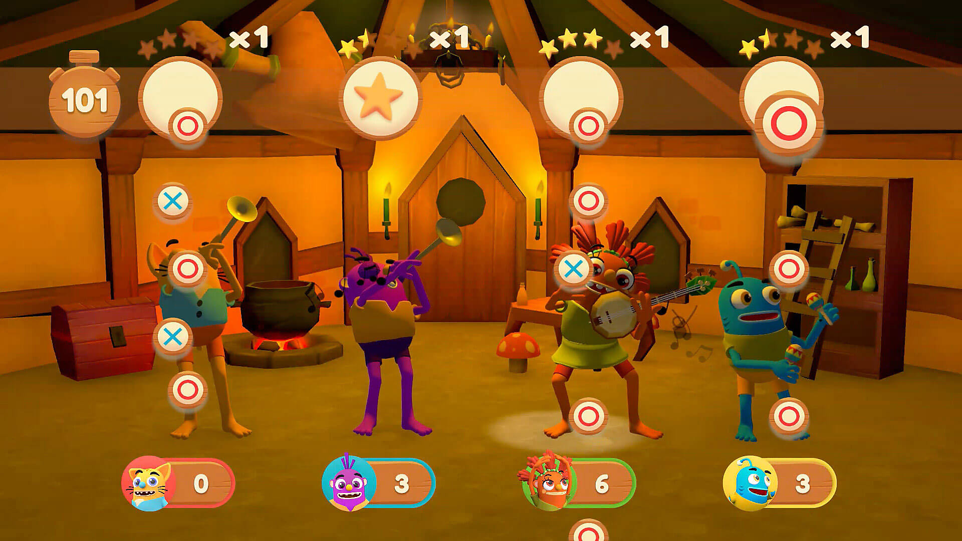 Gameplay de Petoons Party