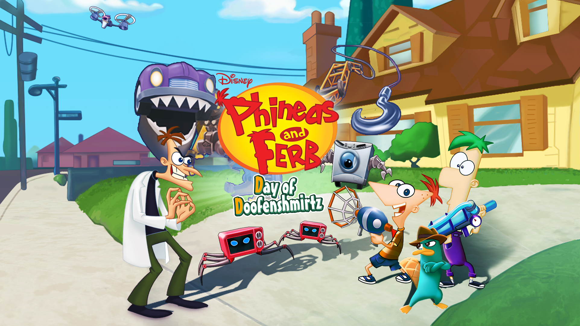 Phineas And Ferb Day Of Doofenshmirtz Game  Psvita -9945