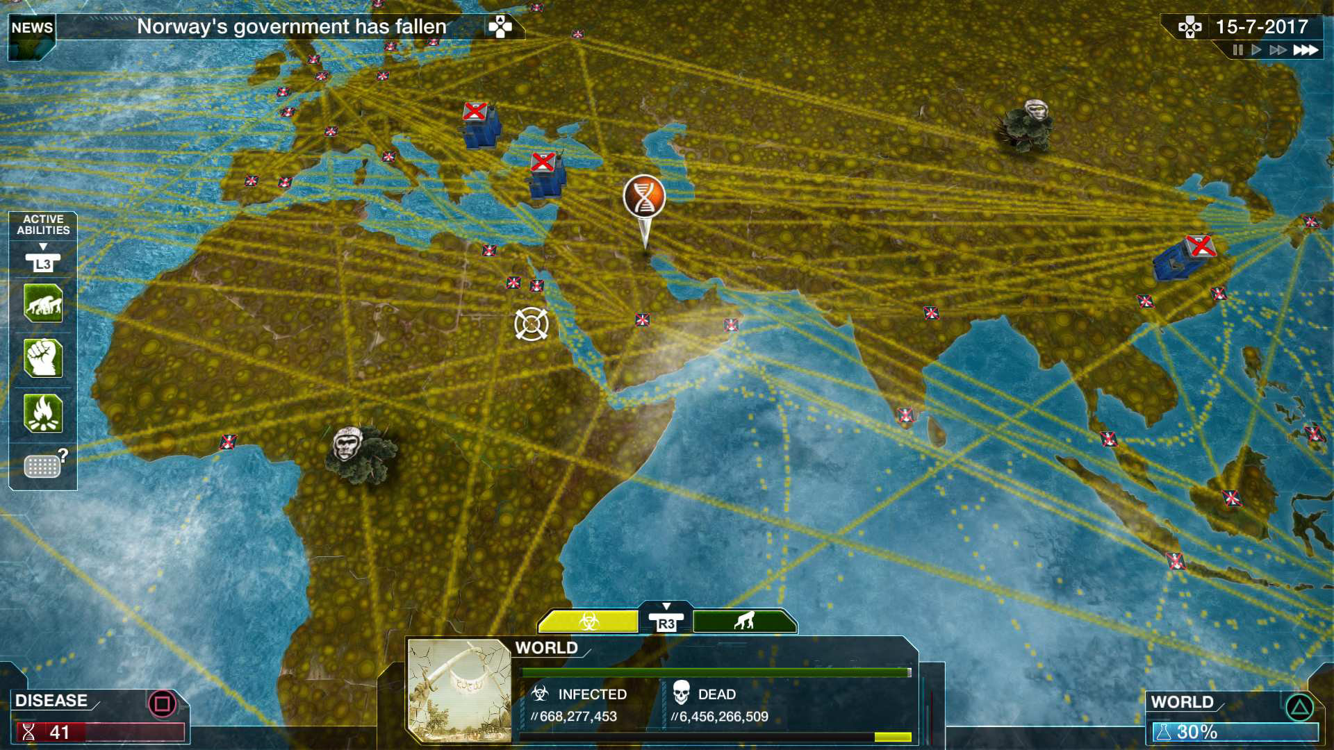 Plague Inc Evolved Game PS PlayStation - Evolving map of us