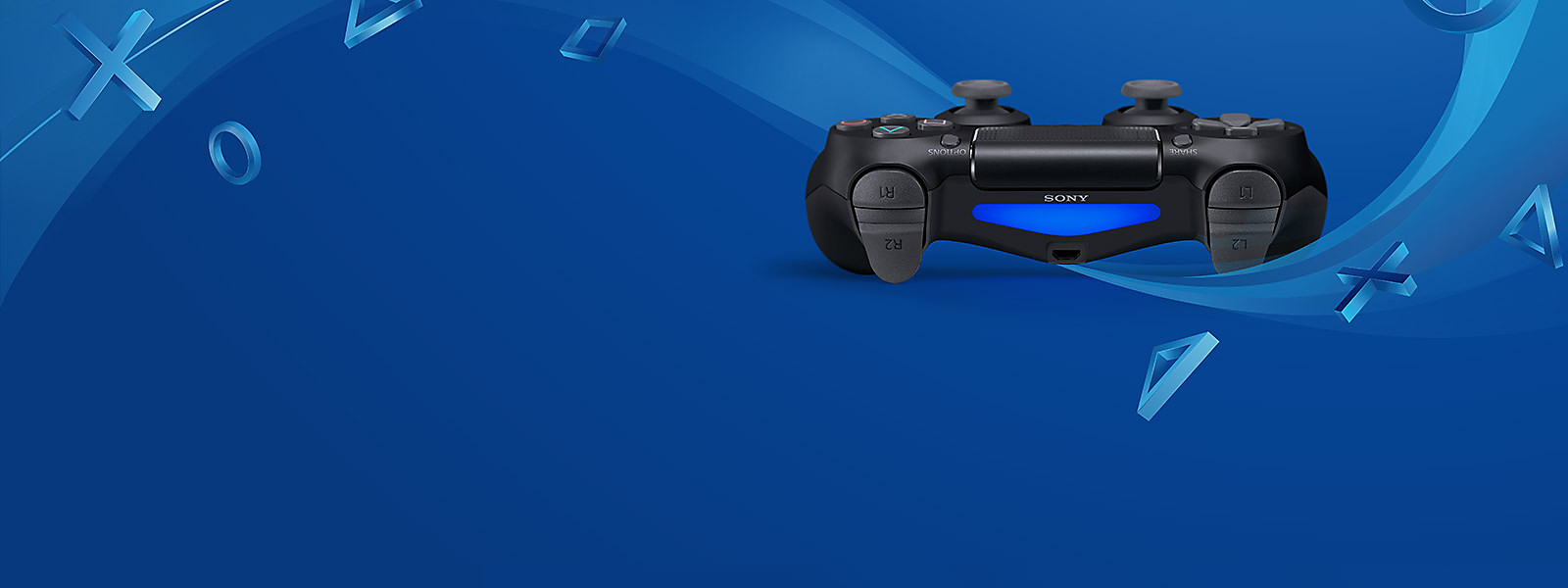 PlayStation 4 background image featuring DualShock 4 controller