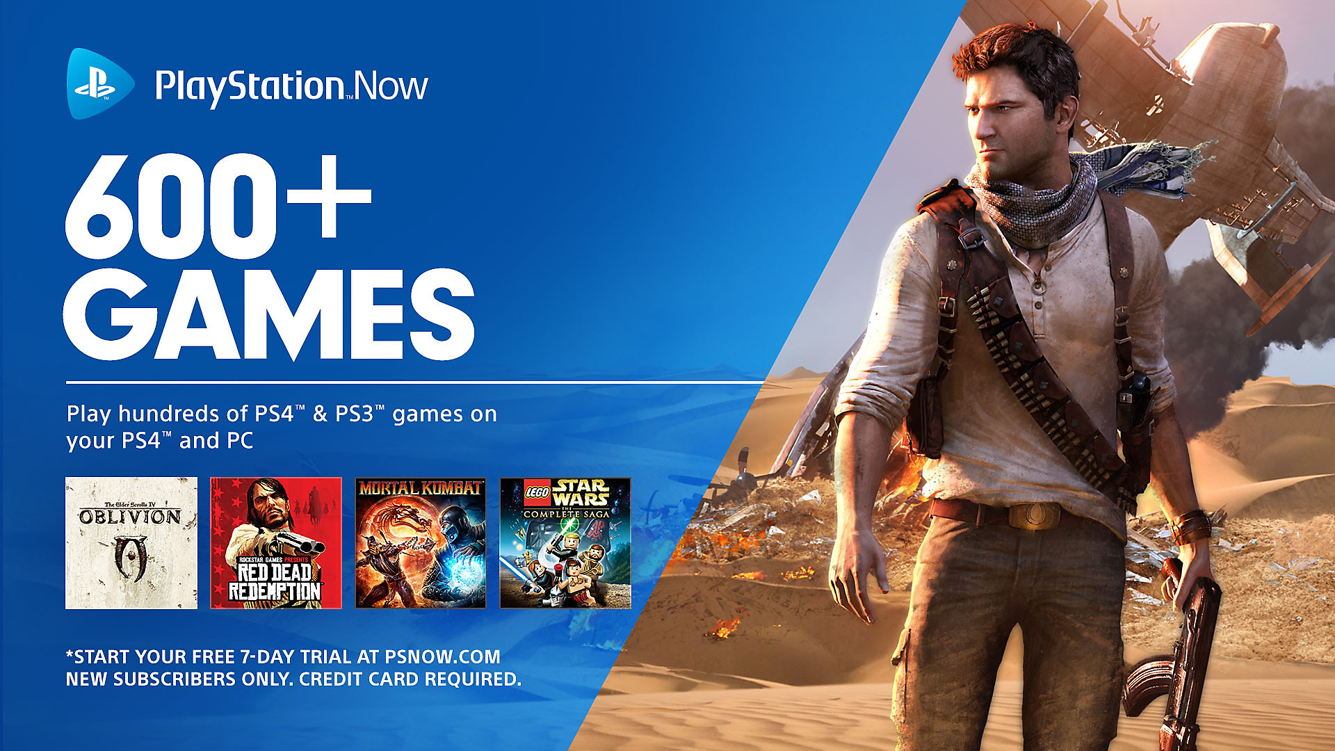 PlayStation Now - Over 600+ Games