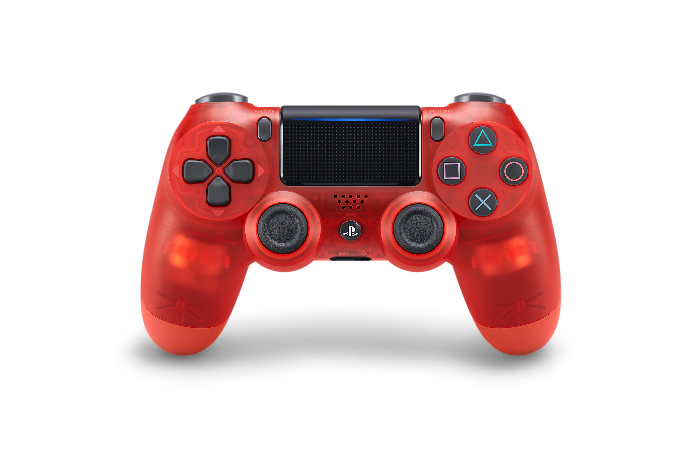 Red Crystal DUALSHOCK 4 - PlayStation Accessories