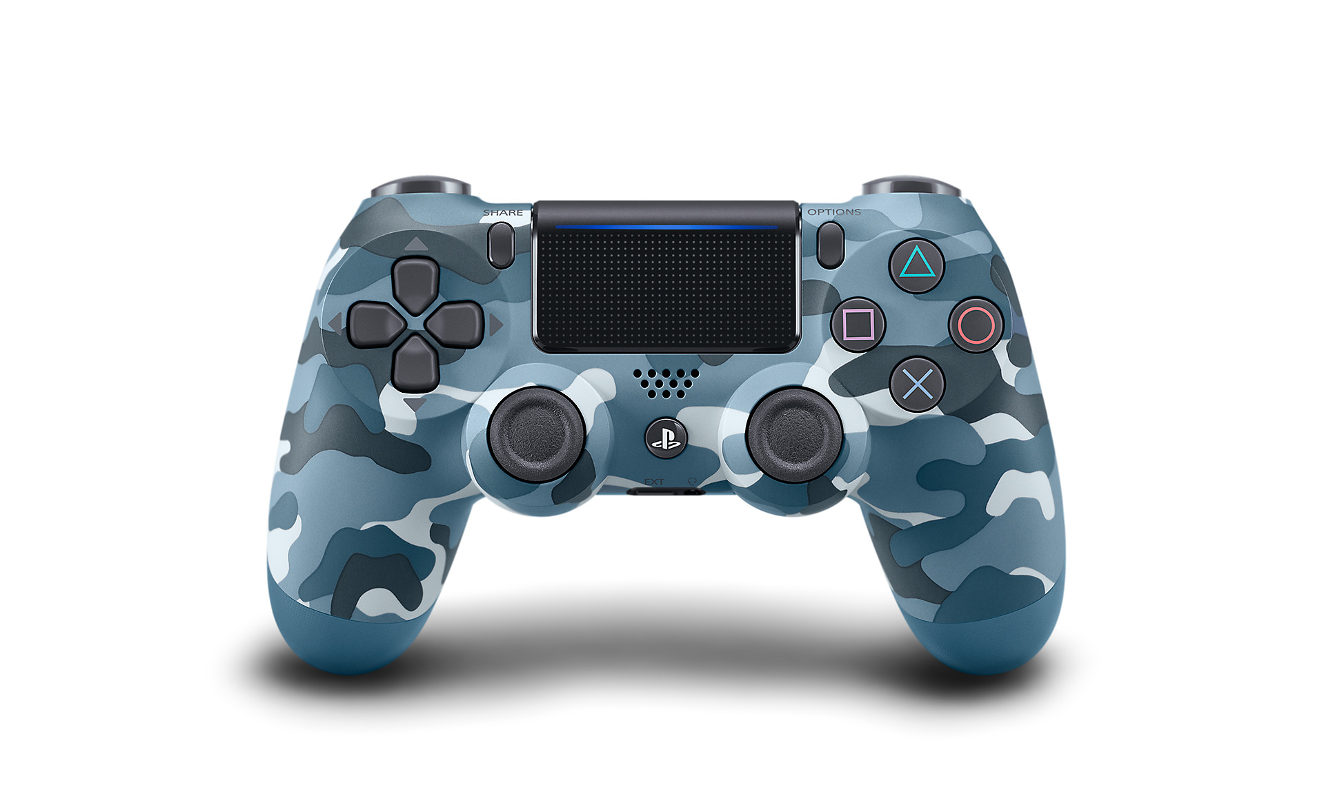 Blue Camo DUALSHOCK 4 - PlayStation Accessories