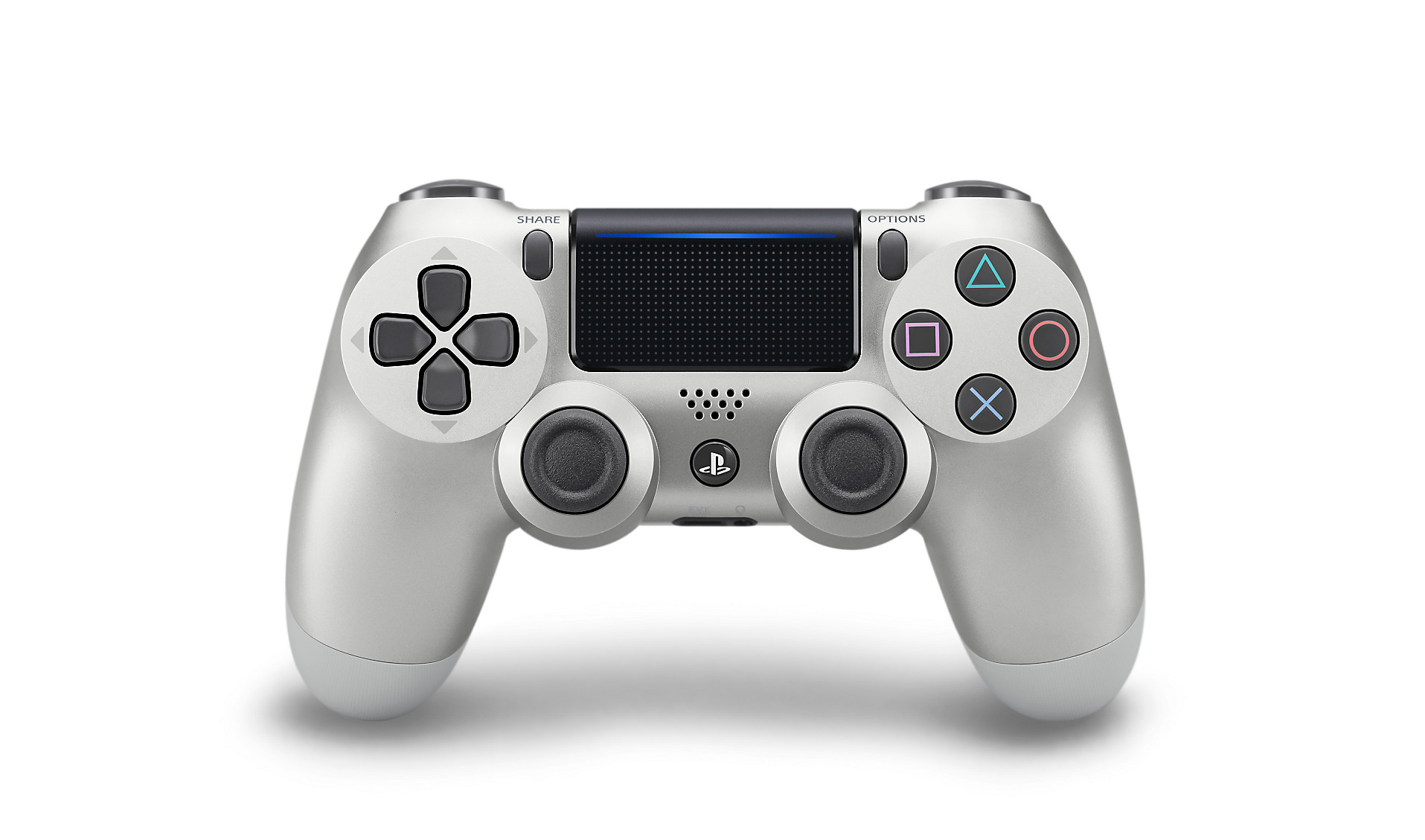 Silver DualShock 4 - PlayStation Accessories