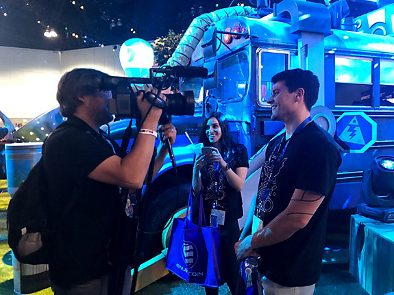 PlayStation recording at a special event