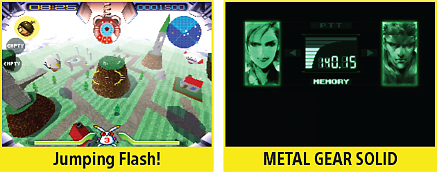 Jumping Flash, Metal Gear Solid