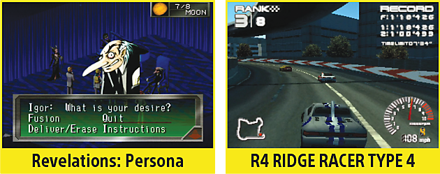 Revelations: Persona, R4 Ridge Racer Type 4