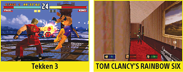 Tekken 3, Tom Clancy's Rainbow Six