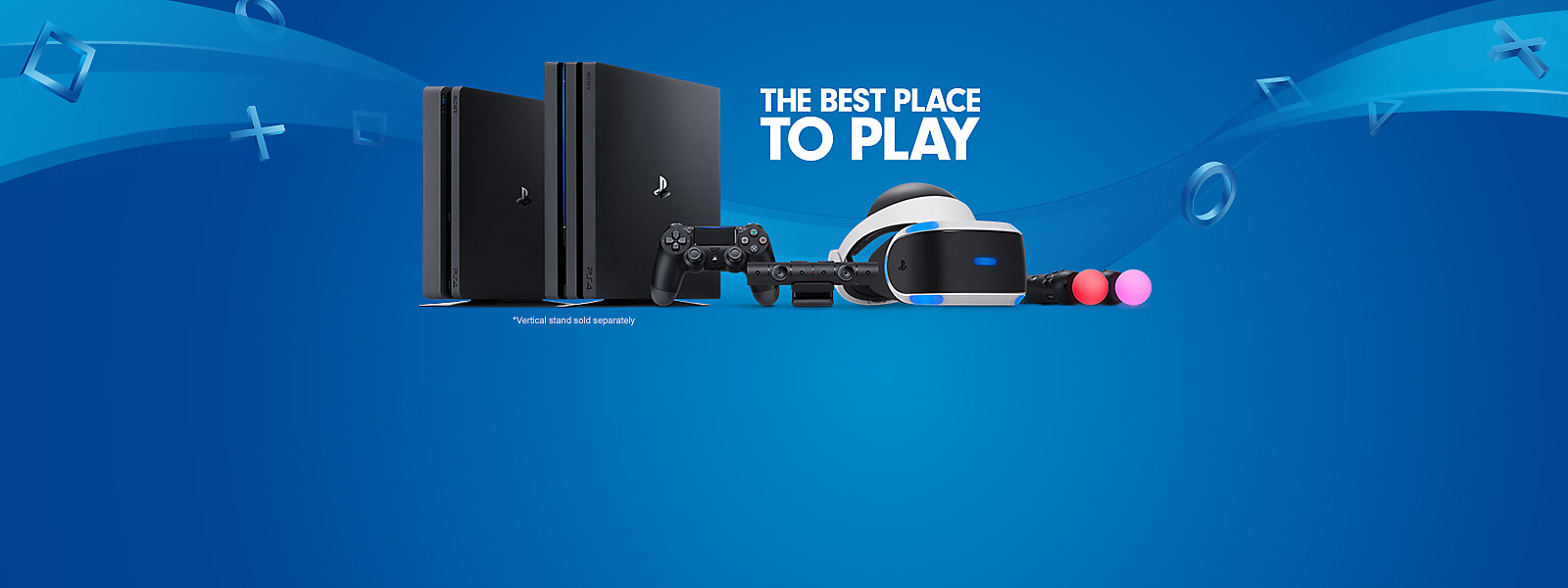 PlayStation hardware shot including PS4, PS4 Pro, and PlayStation VR