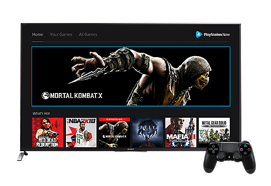 PlayStation Now on PS4