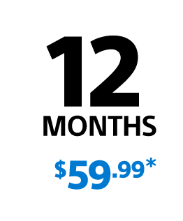 PlayStation Plus - 12 Month Membership for $59.99
