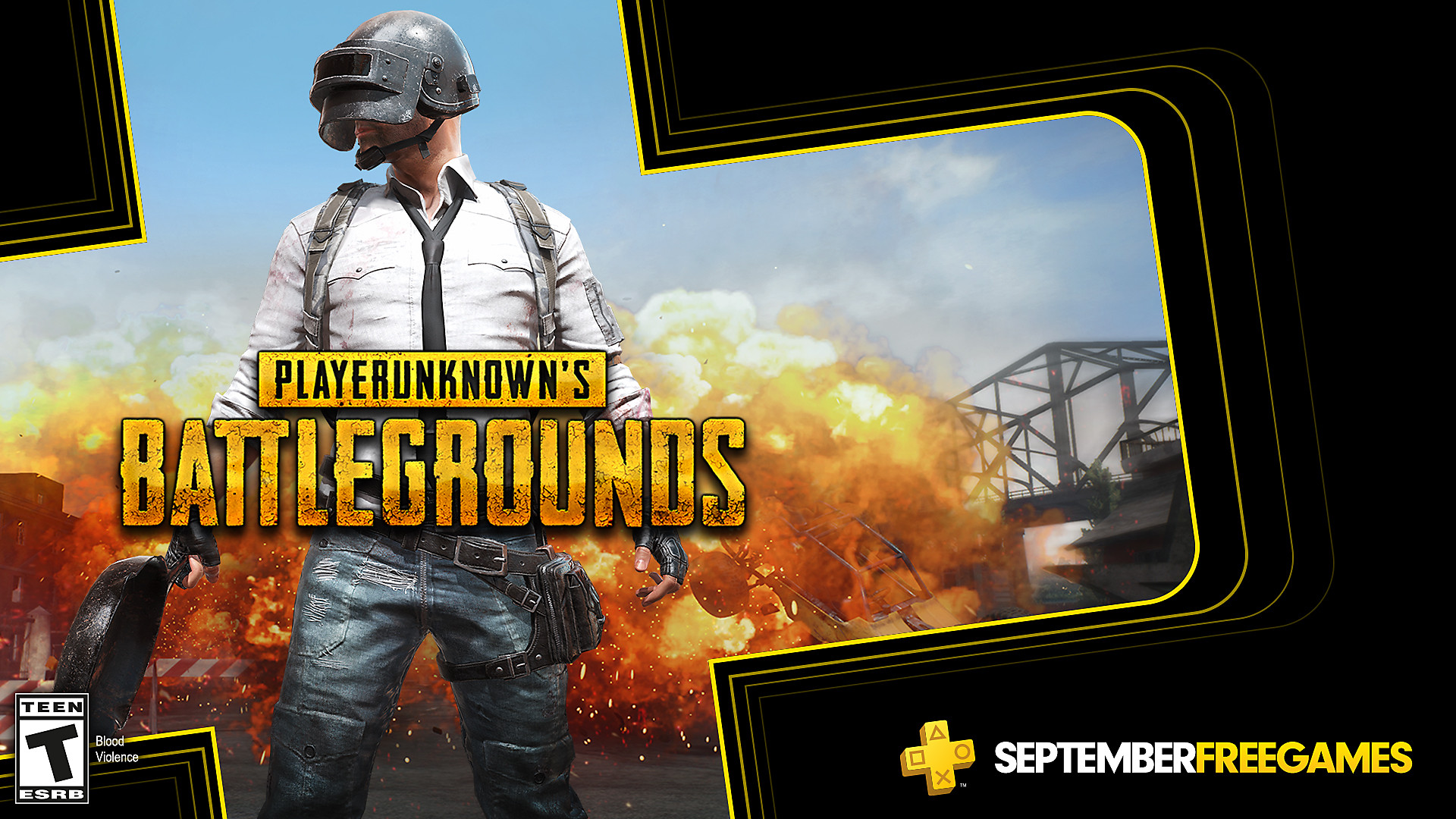Click here to get PLAYERUNKNOWN'S BATTLEGROUNDS free from the PlayStation Store for PlayStation Plus members