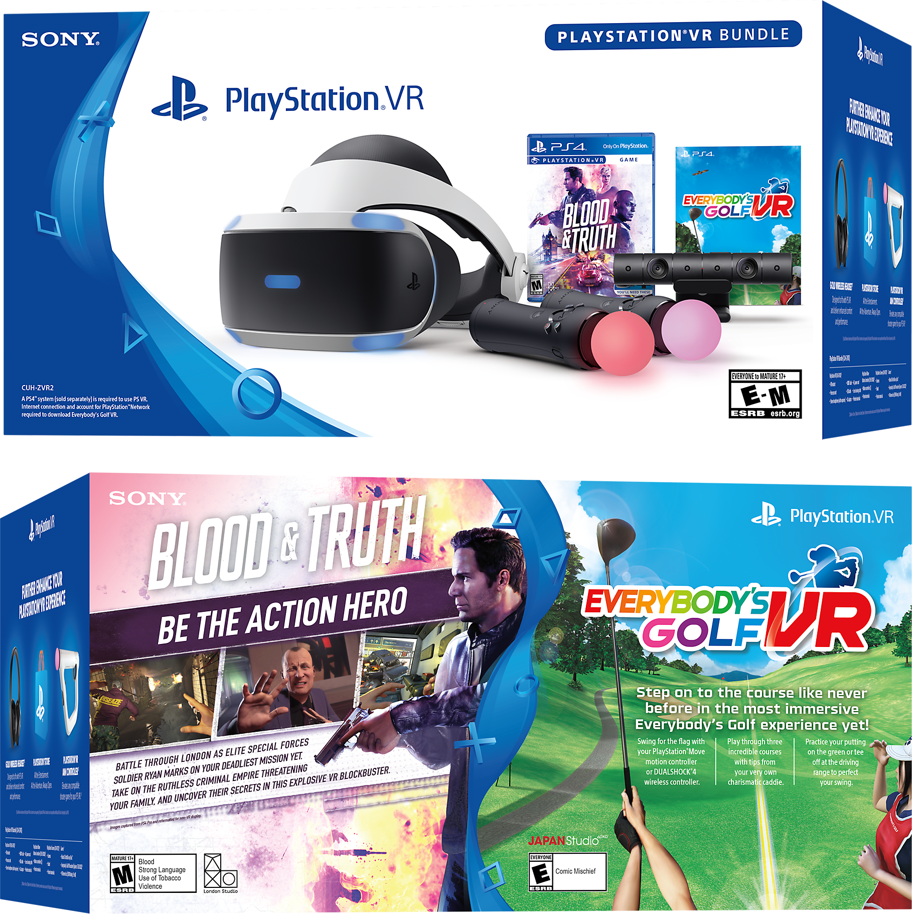 PlayStation VR Blood & Truth and Everybody's Golf VR Bundle Product Shot