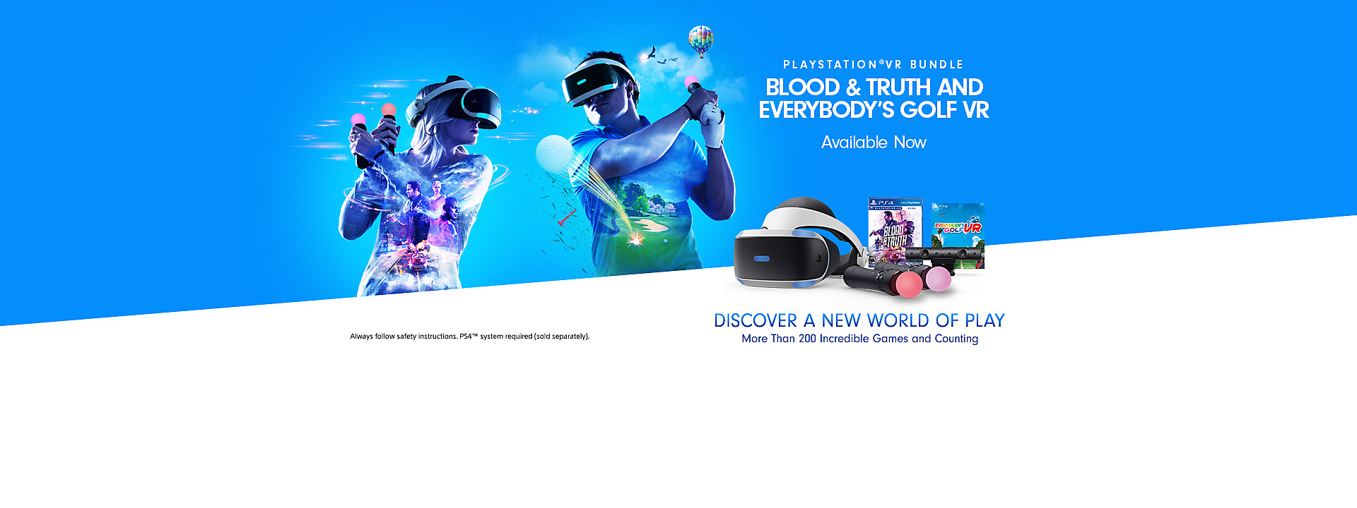 PlayStation VR Blood & Truth and Everybody's Golf VR Bundle - Available Now