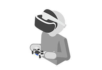PlayStation VR - player icon holding a charged controller