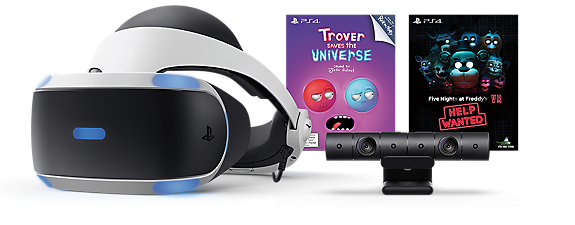 PlayStation VR - Trover and Five Nights at Freddys Bundle